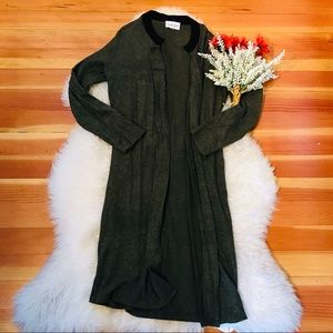 Olive & Oak lightweight soft olive green duster